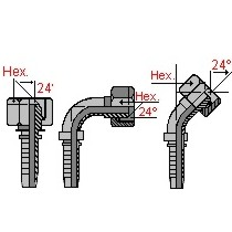 Metric fittings for hoses