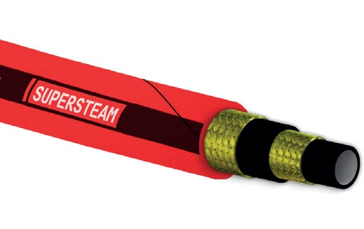 Steam and hot water hose SUPERSTEAM RED